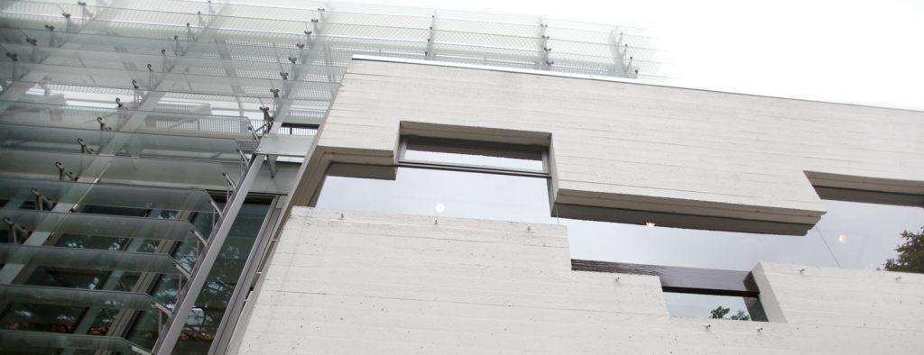 kantoorgebouw, grijs beton